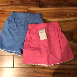 Set of 2 Bella bliss ric rac shorts